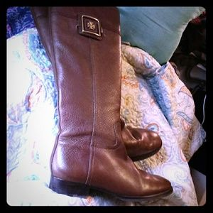 EUC Tory Burch Pebble Leather Boots/ 9.5